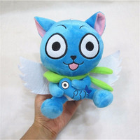 "[PCMOS] 2017 New Anime Fairy Tail Blue Happy Cat 18cm 7"" Cute Plush Toy Stuffed Doll Arcade Prizes 3200"