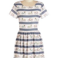 Sugarhill Boutique Mid-length Short Sleeves A-line Merrily You Roll Along Dress