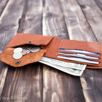 Coin pocket wallets wallet card holder credit card wallet slim wallets billfold wallet minimal wallet brown genuine leather travel wallet
