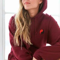Embroidered Yin Yang Hoodie Sweatshirt - Urban Outfitters