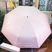 Dior New fashion more letter print waterproof sun protection umbrella Pink