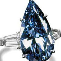 Pear & baguette diamonds 3 stone ring 3.05 ct. gold new