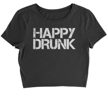 Happy Drunk Cropped T-Shirt