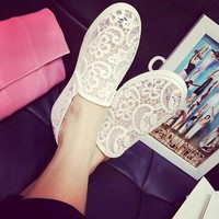 Lotus Jolly Women Flats Summer Lace Casual shoes Woman Sandals loafers Ladies Soft sole Shoes Slip on Ballet Flats zapatos mujer