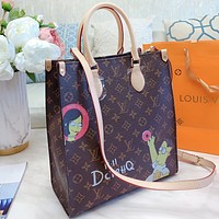 LV New fashion monogram print leather handbag shoulder bag crossbody bag Coffee