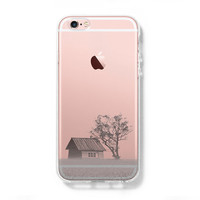 Rural Scenery in the Spring iPhone 6s Clear Case iPhone 6 Cover iPhone 5S 5 5C Hard Transparent Case C016