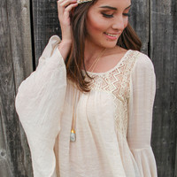 Boho Beauty Top in Ivory