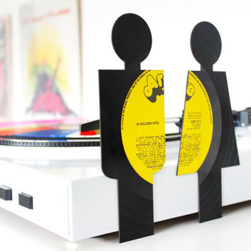 Lasercut Toilet Signs from Vinyl Records - 40 golden hits set