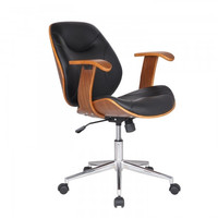 Joveco Bentwood Arm Rest Adjustable Height Swivel Tufted Desk Chair