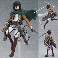 "Attack on Titan Mikasa Ackerman 6"" PVC Action Figure Collectible Model Doll Toy For Kids"