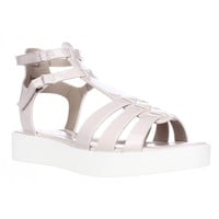 XOXO Lennie Platform Gladiator Sandals - Blush