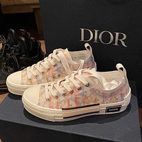 Dior Translucent film splicing low top shoes