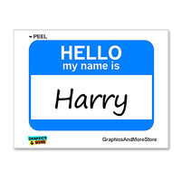 Harry Hello My Name Is Sticker
