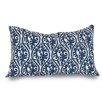 Navy Blue Helix Small Pillow