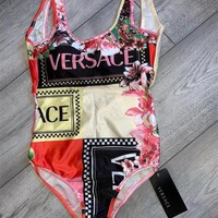 Versace Floral Print One-Piece Swimsuit
