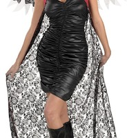 Cape Red-black Lace W Wings women's costume