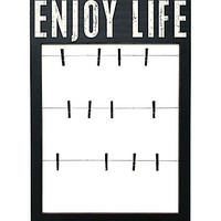 Primitives By Kathy Enjoy Life Clothespin Frame - Black
