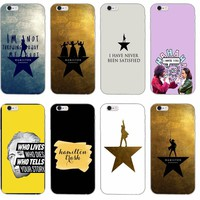 Hamilton Musical Lyrics silicone TPU Soft phone case For Samsung Galaxy S3 S4 S5 S6 S7 edge S8 Plus mini Note 3 4 5