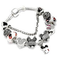 Romantic Charms Bracelets For Women Diy Crystal Beads Bracelet Bangle Fashion Jewelry