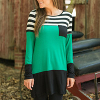Best Of Both Worlds Tunic, Green