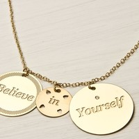 Supermarket: Believe in yourself necklace from LOVE NAOMI