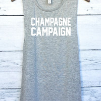 Champagne Campaign Muscle Tank Top
