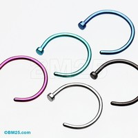 5 Pcs Assorted Basic Nose Hoop Ring Package