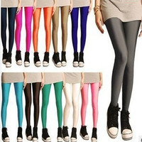 Solid Candy Neon Women's Leggings High Stretched Sports Jeggings Fitness Clothing Ballet Dancing Pant DDK02