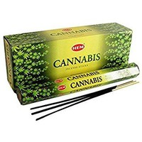 Cannabis - Box of Six 20 Gram Tubes - HEM Incense