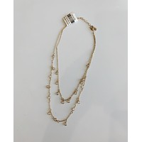 Clear Charm Double Necklace