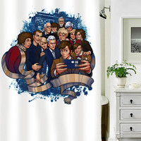 Doctor Selfie War white special custom shower curtains that will make your bathroom adorable