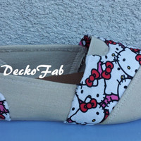 Hello Kitty Toms Styled Shoes
