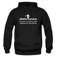attention zombies hoodie