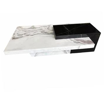 Black &  White Marble Trendy Coffee Table Furniture