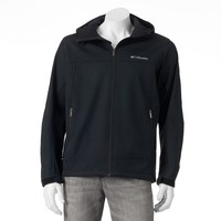 Columbia Smooth Spiral Hooded SoftShell Jacket - Men, Size: L (Black)