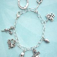 cheer dancer charm bracelet