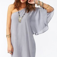 Serious Flare Dress - Dove Gray in Clothes Dresses at Nasty Gal