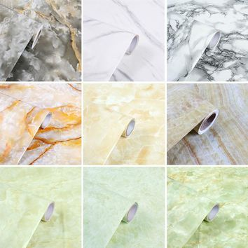 5M Modern PVC Marble Waterproof Self Adhesive Wallpaper For Bathroom Kitchen Cupboard Table Wall Contact Paper Home Decor
