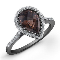 AMAZING 6.40CT PEAR  SOLITAIRE STUD 925 STERLING SILVER ENGAGEMENT RING FOR HER
