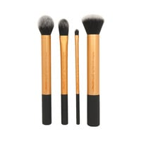 Real Techniques by Samantha Chapman, Your Base/Flawless, Core Collection, 4 Brushes + Case