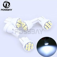 5 Pcs 8SMD T10 1206 Dome Index Car LED Lamp Bulbs Wedge White Light DC12V Car Accessories