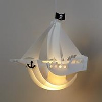 Kids Lighting: Pirate Ship Ceiling Lamp in Ceiling Fixtures | The Land of Nod
