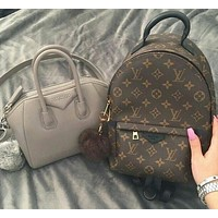 LV Louis Vuitton Classic Fashion Women Daypack School Bag Leather Backpack Shoulder Bag