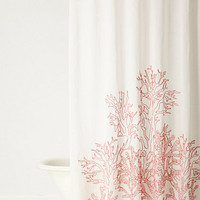 Climbing Coral Shower Curtain