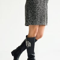 Monogrammed Leather Boots Southern Monogram Boutique Boots Monogram Riding Boots
