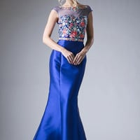 Floral Prom Gown CDHW16