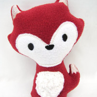 Red Plush Fox -- Woodland Baby Toy -- Stuffed Animal