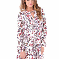 Into the Forest Floral Dress - Ivory