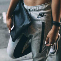 """NIKE"" Women Fashion Sport Stretch Pants Trousers Sweatpants"