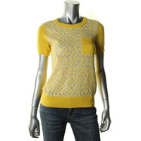 Kate Spade Womens Knit Textured Pullover Top